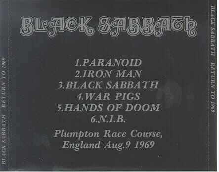 Black Sabbath Return To 1969